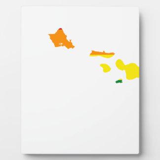 Flaggen-Karte Hawaiis LGBT Fotoplatte