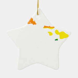 Flaggen-Karte Hawaiis LGBT Keramik Ornament