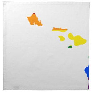 Flaggen-Karte Hawaiis LGBT Serviette