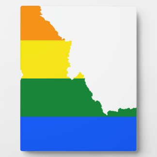 Flaggen-Karte Idahos LGBT Fotoplatte