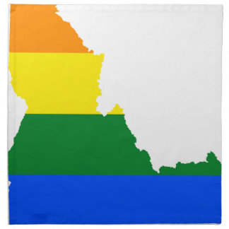Flaggen-Karte Idahos LGBT Serviette
