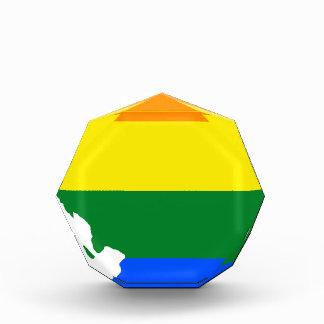 Flaggen-Karte Illinois LGBT Acryl Auszeichnung