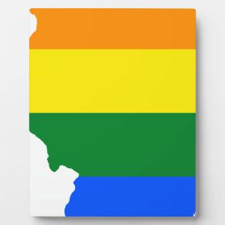 Flaggen-Karte Illinois LGBT Fotoplatte