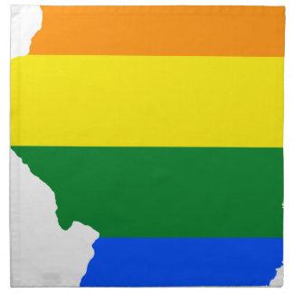 Flaggen-Karte Illinois LGBT Stoffserviette