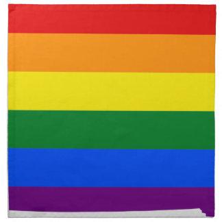 Flaggen-Karte Iowas LGBT Stoffserviette