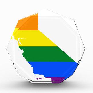 Flaggen-Karte Kaliforniens LGBT Auszeichnung