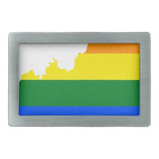 Flaggen-Karte Kentuckys LGBT Rechteckige Gürtelschnalle
