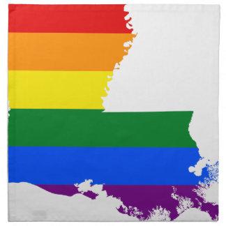 Flaggen-Karte Louisianas LGBT Stoffserviette