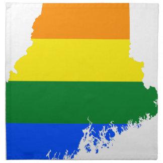 Flaggen-Karte Maines LGBT Stoffserviette