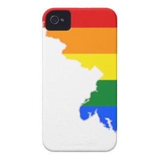 Flaggen-Karte Marylands LGBT iPhone 4 Case-Mate Hülle