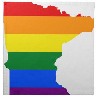 Flaggen-Karte Minnesotas LGBT Stoffserviette
