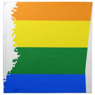 Flaggen-Karte Mississippis LGBT Serviette