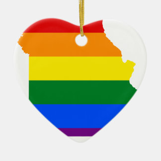 Flaggen-Karte Missouris LGBT Keramik Ornament