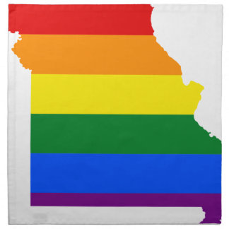 Flaggen-Karte Missouris LGBT Serviette