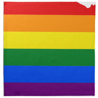 Flaggen-Karte Nebraska LGBT Serviette