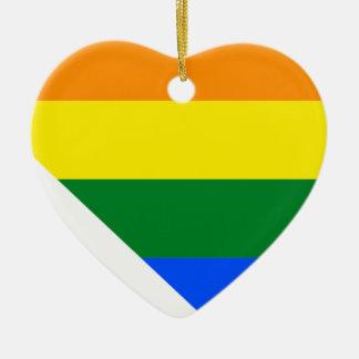 Flaggen-Karte Nevadas LGBT Keramik Ornament