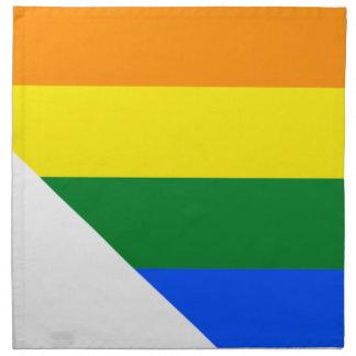 Flaggen-Karte Nevadas LGBT Serviette