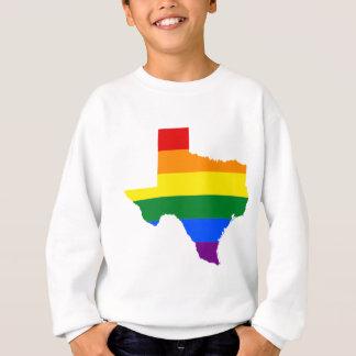 Flaggen-Karte Texas LGBT Sweatshirt
