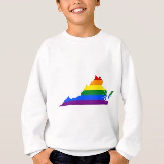 Flaggen-Karte Virginias LGBT Sweatshirt