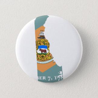 Flaggen-Karte von Delaware Runder Button 5,7 Cm