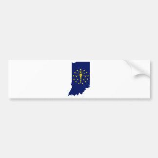 Flaggen-Karte von Indiana Autoaufkleber
