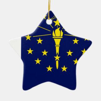 Flaggen-Karte von Indiana Keramik Ornament