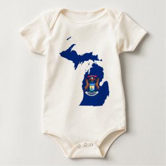 Flaggen-Karte von Michigan Baby Strampler