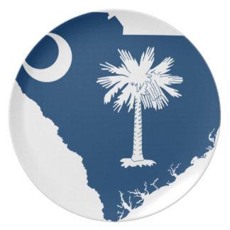 Flaggen-Karte von South Carolina Teller