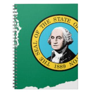 Flaggen-Karte von Washington Spiral Notizblock
