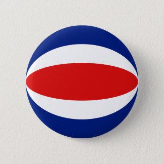 Flaggen-Knopf Costa Ricas Fisheye Runder Button 5,7 Cm