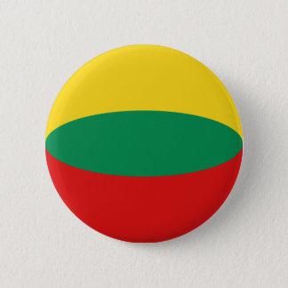 Flaggen-Knopf Litauens Fisheye Runder Button 5,1 Cm