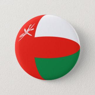 Flaggen-Knopf Omans Fisheye Runder Button 5,1 Cm
