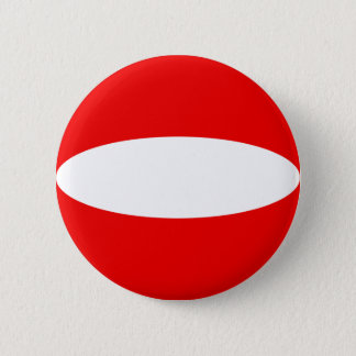 Flaggen-Knopf Österreichs Fisheye Runder Button 5,7 Cm