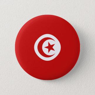 Flaggen-Knopf Tunesiens Fisheye Runder Button 5,7 Cm