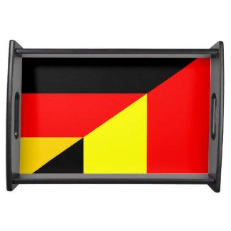 Flaggen-Landsymbol Deutschlands Belgien halbes Serviertablett
