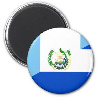 Flaggen-Landsymbol Guatemalas El Salvador halbes Runder Magnet 5,7 Cm
