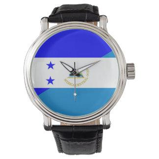 Flaggen-Landsymbol Hondurass Nicaragua halbes Uhr