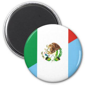 Flaggen-Landsymbol Mexikos Guatemala halbes Runder Magnet 5,1 Cm