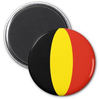 Flaggen-Magnet Belgiens Fisheye Runder Magnet 5,7 Cm