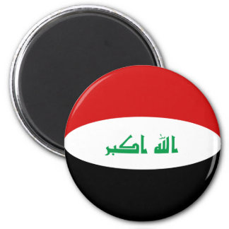 Flaggen-Magnet des Iraks Fisheye Runder Magnet 5,7 Cm