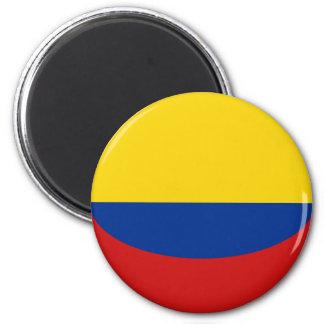 Flaggen-Magnet Kolumbiens Fisheye Runder Magnet 5,7 Cm