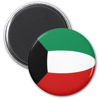 Flaggen-Magnet Kuwaits Fisheye Runder Magnet 5,7 Cm