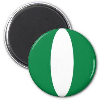 Flaggen-Magnet Nigerias Fisheye Runder Magnet 5,1 Cm