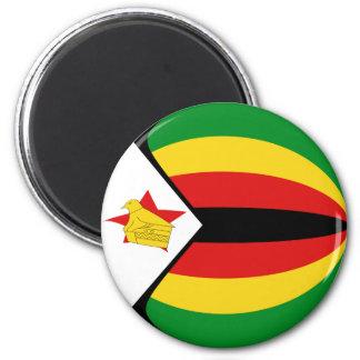 Flaggen-Magnet Simbabwes Fisheye Runder Magnet 5,7 Cm