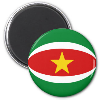 Flaggen-Magnet Surinams Fisheye Runder Magnet 5,1 Cm