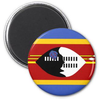 Flaggen-Nationssymbol Swasiland-Landes langes Runder Magnet 5,7 Cm