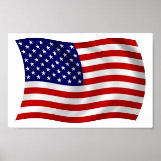 Flaggen-Plakat-Druck des USA-(USA) Poster
