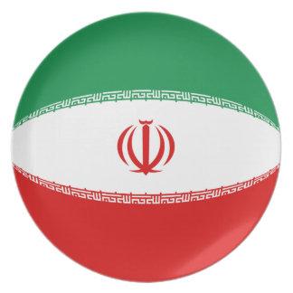 Flaggen-Platte des Irans Fisheye Teller