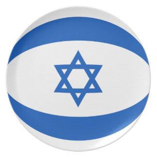 Flaggen-Platte Israels Fisheye Teller