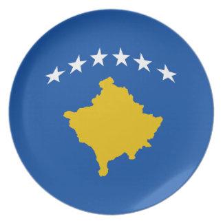 Flaggen-Platte Kosovos Fisheye Melaminteller